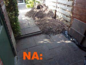 boomstronk verwijderen resultaat